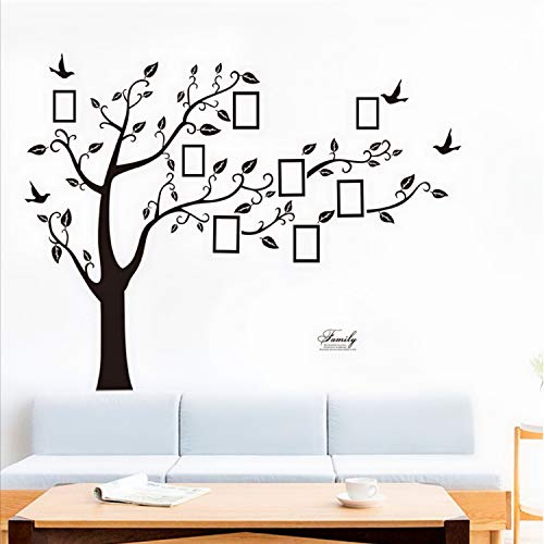 Bobrvladikotbobra Large Family Tree Wall Decal Peel amp Stick Vinyl Sheet Easy to Install amp Apply History Decor Mural for Home Bedroom Stencil Decoration DIY Photo Gallery Frame Decor Sticker