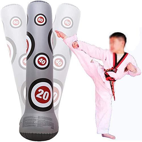 LIYAN Fitness-Boxen Säulen, Vertikal aufblasbares PVC-Spielzeug zu bekämpfen Zuhaltung Sandsäcke, 1,6 Meter hoch Spielzeug für Erwachsene Fitnesstraining