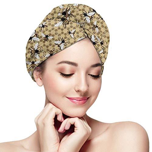 GYTHJ Cheveux Tête Serviette Wrap Turban Microfibre Séchage Bain Douche Funky Rétro Style Sèche Magique Rapide, Cheveux Secs Chapeau pour Les Femmes