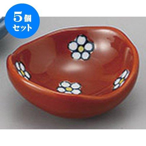 5個セット 珍味 梅小紋楕円豆皿(R) [5.7 x 5.1 x 2.3cm] 【料亭 旅館 和食器 飲食店 業務用 器 食器】