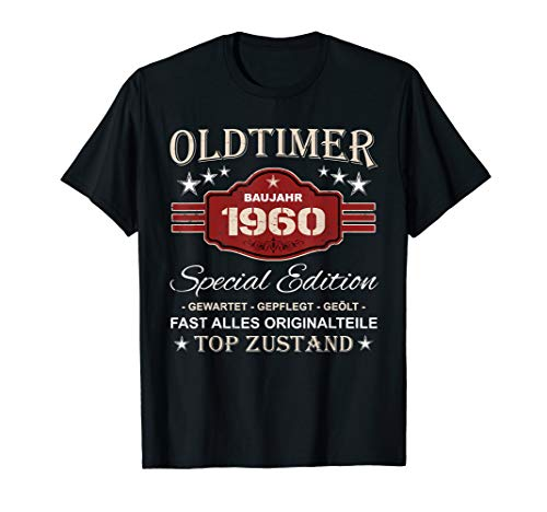 Retro Vintage 60. Geburtstag Opa Geschenk Oldtimer 1960 T-Shirt