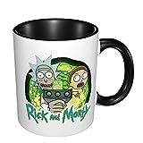 Rick and Morty - Tazza in ceramica con motivo anime, divertente e originale, da viaggio, per San Valentino, festa della mamma, regalo per uomini e donne, tazze da tè e caffè