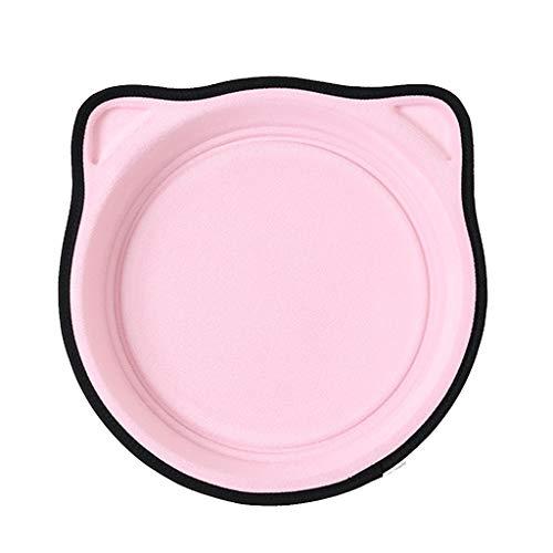 Koobysix Cat benodigdheden Cat raambed matten Cat hangmat bed stalen draad Hang Nest vensterbank ronde geschenken voor uw katten, roze