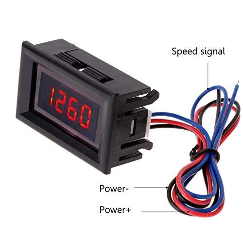 SIMNO JIAHONG tacómetro LED Rojo de la Motocicleta del Coche tacómetro Digital y tacómetro del Motor del tacómetro con la Alarma de sobretensión de la batería