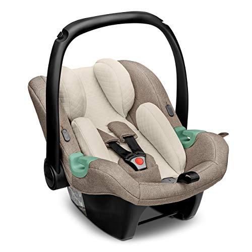 ABC Design Baby Autositz Tulip Fashion Edition – Babyschale für Gruppe 0+ i-Size bis 13 KG – Verstellbare Kopfstütze – Seitenaufprallschutz & 3-Punkt-Gurtsystem – Farbe: nature