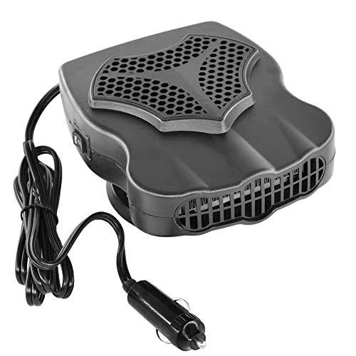 Findema 12V 200W tragbare Autoheizung,Auto Fahrzeuglüfter Heiße warme Heizung Abtauen Abtauen Geräuschloser Heizlüfter für Windschutzscheibe
