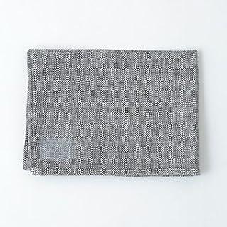 fog linen work フォグリネンワーク リネンキッチンクロス ヘリンボーンブラック [LKC001-HE1] 【sf】