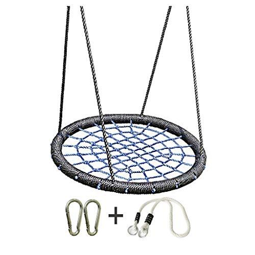 Hong Yi Fei-Shop Relaxdays Columpio Diámetro del Columpio for Exteriores 39'El acollador Ajustable Swing Web Swing es Muy Seguro, Duradero y fácil de Disfrutar con los niños y la Familia Hamaca Doble