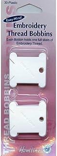 non-brand 50pcs Thread Bobbins Garnwickelkarten Wickelkarten Kordelhalter f/ür DIY Sticken aus Kunststoff