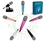 Mini Microphone Portable Vocal/Instrument Microphone for Mobile Phone Laptop Notebook Apple iPhone Samsung Android(Pink)