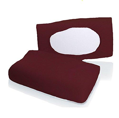 Bellana Gesundheitskissen Bezug Mako Jersey 30-50 x 40-80 cm und 8-15 cm Höhe cm Farbe: Bordeaux
