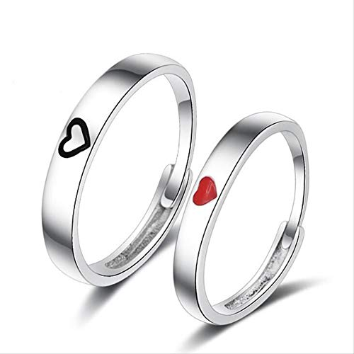 IWINO Simple Style Fashion Love Heart Female Couple Rings Copper Wedding Band Men Engagement Ring Couple Jewelry
