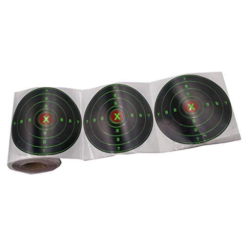 SM SunniMix 100pcs Bogenschießen Zielscheibe Aufkleber Selbstklebend Scheibenauflage Papierauflage, Durchmesser: 10,16 cm