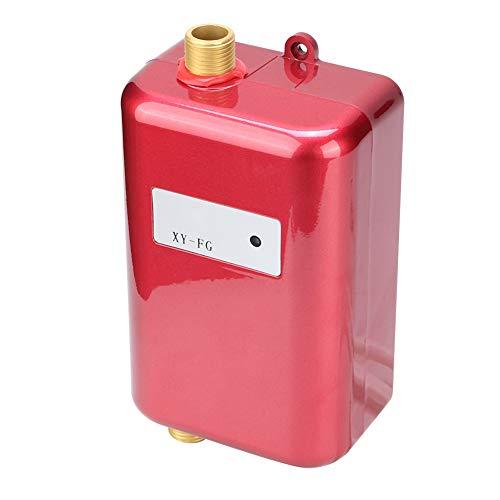 Atyhao Calentador de Agua eléctrico sin Tanque, Mini Calentador de Agua termostático instantáneo, baño, Cocina, Lavado, Caliente, frío, Doble Uso, Calentador de Agua Rojo(Enchufe de la UE)