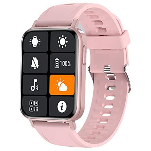 Gazaar Reloj inteligente de fitness con medición de temperatura corporal,30 modos deportivos,IP67 resistente al agua 1.65 pantalla táctil completa, podómetro de pulsera inteligente,mujeres y hombres
