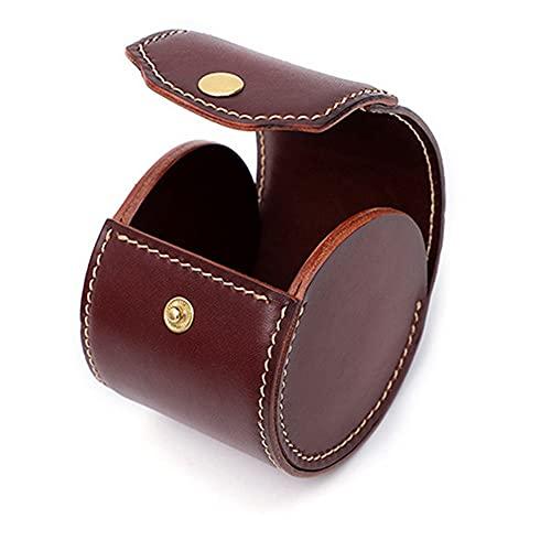 watch box Caja de Reloj PU Material Material Caja de Almacenamiento Multifuncional Retro Hecho a Mano Joyero Caja pequeña y Exquisita se Puede Transportar fácilmente con Usted
