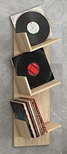 VCM Regal Schallplatten Möbel LP Aufbwahrung Archivierung Wandregal Hängeregal Holz Sonoma-eiche 106x 33 x 26 cm
