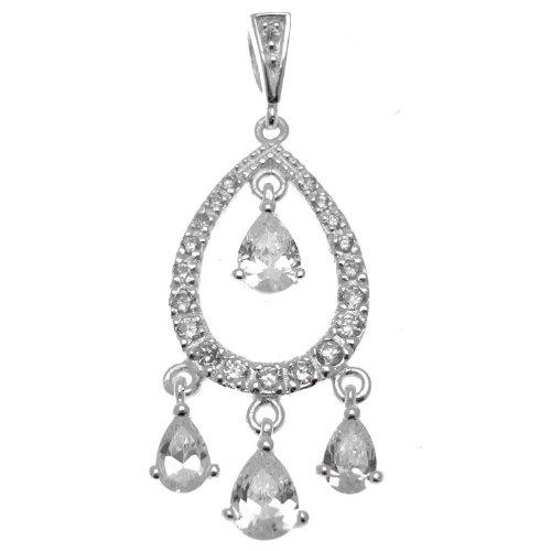 Acosta - 925 plata con circonitas cúbicas - de cristal de diseño...