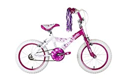 10 inch steel frame with unicrown front fork and 16 inch rims with 2.125 inch tyres Twin calliper brakes with adjustable easy-reach levers and fully adjustable stem Padded comfort saddle and hi-rise handlebars with streamers Semi-enclosed chain guard...
