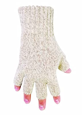 Custom Leathercraft Fingerless Ragg Wool Gloves