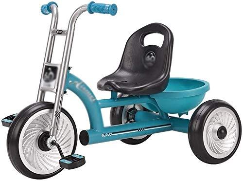 Xiaoyue Fahrräder Kinderfahrrad Kinderwagen Kinderspielzeugauto reitet Kindergarten Spielzeug Fahrrad Babys Fahrrad Tricyclus (Farbe: Blau, Größe: 75x45x53cm) lalay