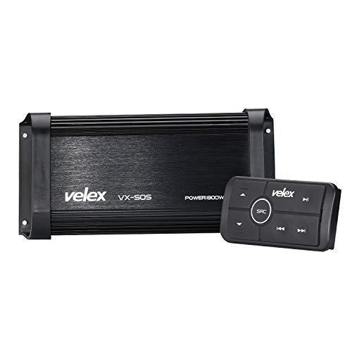 Amplificatore Bluetooth marino 4 canali Classe D Amplificatore stereo su barche Carrelli da golf ATV ATV e auto