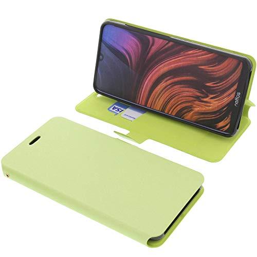 foto-kontor Tasche für TP-Link Neffos X20 Book Style grün Schutz Hülle Buch