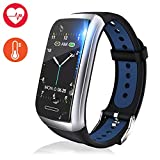 Fitness Tracker Watch, Activity Tracker with Heart Rate Monitor, 1.14'' Color Screen Fitness Watch with Blood Pressure Monitor Sleep Monitor, Pedometer Calories Counter Smart Watch (Blue)