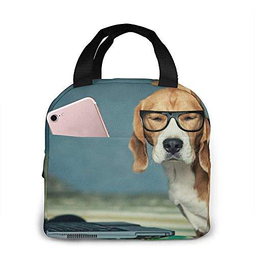 Jongens Meisjes Geïsoleerde Neopreen Lunch Bag - Beagle Grappige Tote Handtas Lunchbox Voedsel Container Koeler Warm Pouch voor School Werk Kantoor