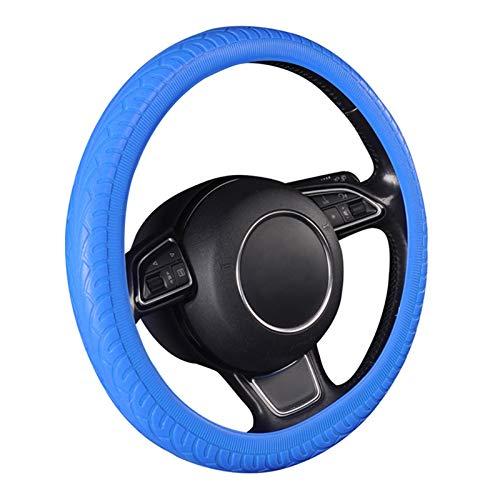 Autopartes Cubierta del Volante del automóvil Estilo de los neumáticos Estilo de Moda Accesorios para Interiores del automóvil Durable (Color Name : Blue)