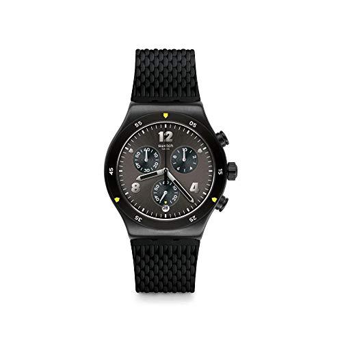 Swatch Reloj Cronógrafo para Hombre de Cuarzo con Correa en Caucho YVB406