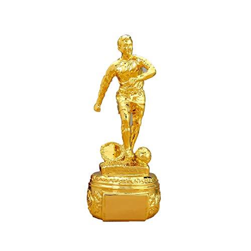 DYYPPWW Trofeo Delantero Premios Deportivos FúTbol Copa Trofeo De CompeticióN,Resina,Fan Souvenirs Colecciones DecoracióN,Oro