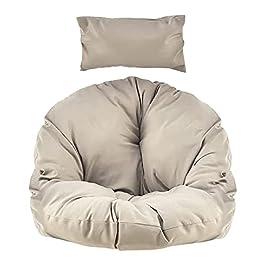 Coussin de chaise à bascule, coussin de berceau rond réglable avec appui-tête confortable, coussin de balançoire de…