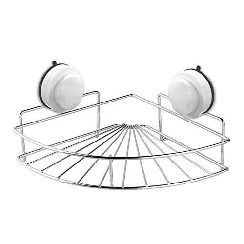 LYMUP Cuarto de baño Estante hogar de Acero Inoxidable Plataforma de baño Ducha Baño cosmética del Organizador del almacenaje Auto Adhesivo Bastidor de retención, (Color : Silver)