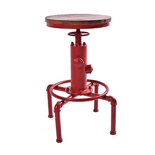 ZXWNB Lift Bar Stuhl Retro kreative Form Stab-Stuhl Freizeit Corner Klassenzimmer Stuhl kreative Industrie Wind Hydrant Runde Tisch und Stuhl,B,A1