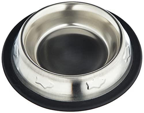 ARQUIVET Comedero, Bebedero acero inoxidable antideslizante para perro o gato - Decorado - Recipiente comida para mascotas - Cuenco para perros y gatos - 240 ml / 15,5 cm