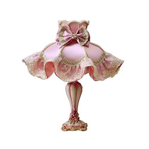 CHNOI Lámpara de Mesa de Princesa Creativa para niña, Luces de Pantalla de Tela para Dormitorio, lámpara de Noche, iluminación romántica para Sala de Bodas