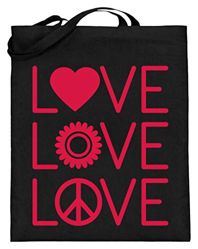 Generisch cool liefde hart tandwiel love peace puzzel autisme vrouwen meisjes design - jute zak (met lange hengsels)