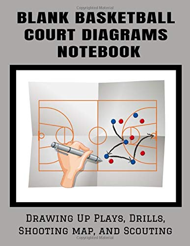 Blank Basketball Court Diagrams Notebook Drawing Up Plays, Drills, Shooting map, and Scouting: Basketball Full Court Diagrams | 102 pages, 8.5x11 inches | Gift for Basketball Coach