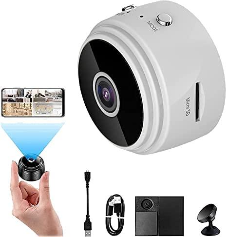 Trailer Hitch Monitoring Device,Kabellose magnetische Rückfahrkamera mit Anhängerkupplung,A9 Mini WiFi HD 1080p Wireless IP-Kamera,35 mm,Weitwinkel 150 Grad,Loop-Videoaufnahme,mit Halterung