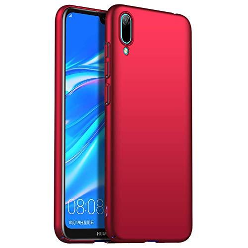 RFLY Funda para Huawei Y6 2019, Ultra Delgada Mate Case Protectora Resistente A Prueba De Golpes, Dura y Rígida Cover Case para Huawei Y6 2019, Rojo