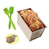 Loaf Pan Baking Toast Pan with Lid Bakeware Non-stick Aluminum Rectangle Flat Toast Box Br...