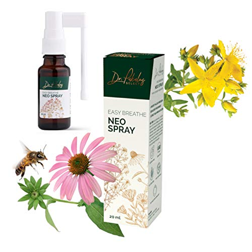 Dr. Pakalns SELECT Halsspray mit Propolis, Echinacea, Johanniskraut und Ringelblumen - Easy Breathe Neo Spray 20 ml