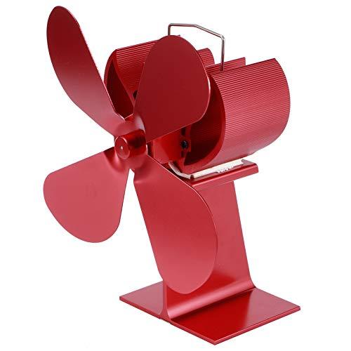 Eosnow Ventilatore per Stufa a 4 Pale, Ventilatore per Camino Ecologico Piccolo Funzionamento Silenzioso per caminetto a Legna per Stufa a Legna