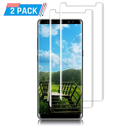 [2 Pack] Galaxy Note 8 3D Touch Tempered Glass Screen Protector [Anti-Bubble][9H Hardness][Case Friendly] for Samsung Galaxy Note 8.