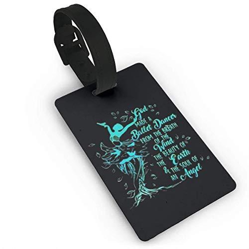 Dios hizo una bailarina de ballet del aliento del viento Tag bolsas de viaje únicas etiquetas etiquetas etiquetas para equipaje equipaje bolsas