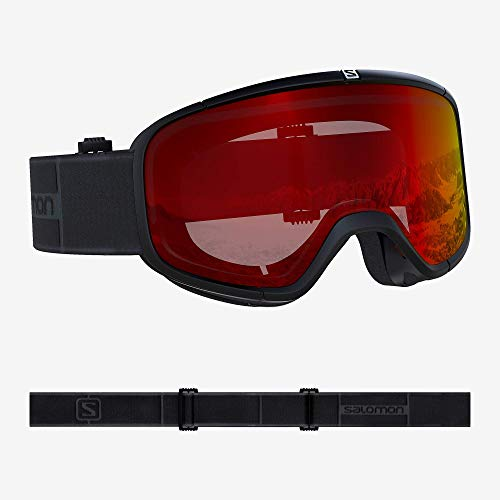 Salomon, Four Seven, Unisex-Skibrille, Schwarz-Grau/Universal Mid Red, L40516800