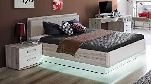 RASANTI 140x200 Bett Rondino von Forte Sandeiche/Weiss