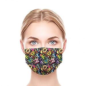 GGSEU Stoffmasken Mundschutz Maske Stoff Mund Nasen Schutzmaske Mund und Nasenschutz Maske waschbar groß (3D-BRIEFE)