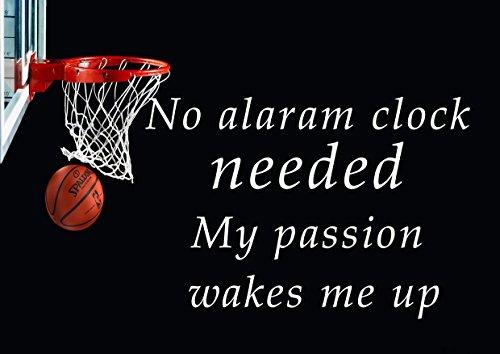 3 basket-ball pas besoin Horloge alaram My Passion veille Me Up Motivation Inscription Love Life Citation mots Belive détermination Best couleur unique Imprimé photo A3 Poster mural